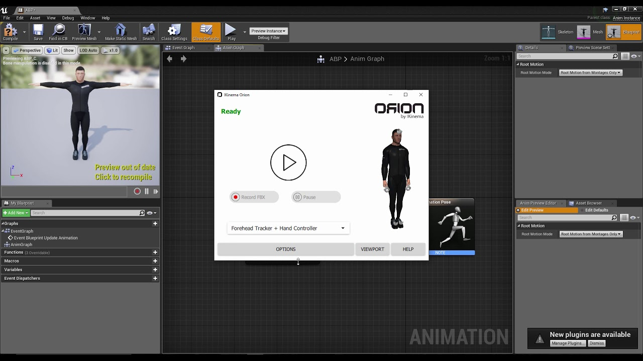 Streaming Orion data into Unreal Engine