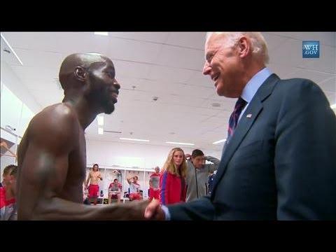 Biden's Dressing Room Visit to U.S. Soccer Team