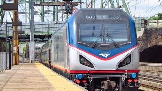 (HD)-Northeast Corridor Railfanning at Trenton ACS 64s, NJ Transit, Acelas, and SEPTAs (7/20/14)