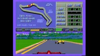 Classic Game Room - MARIO ANDRETTI RACING review for Sega Genesis