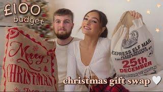 christmas gift swap w/ my boyfriend • £100 budget