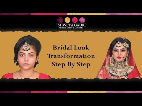 Beautiful bridal makeup transformation step by step by Shweta Gaur