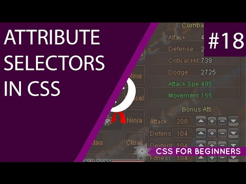 CSS Tutorial For Beginners 18 - Attribute Selectors