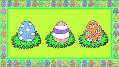 Deutsch lernen: Ostereier, Adjektive und Farben - ein Spiel zu Ostern