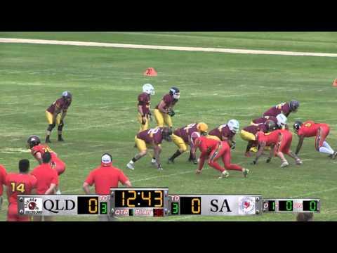 Australian Gridiron League 2016   Qld Sundevils v SA Sharks 16 04 16