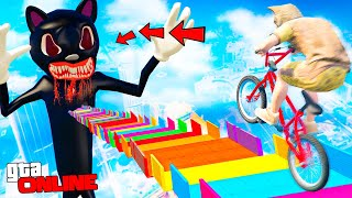 THE MOST SCARY SLIP WITHOUT BRAKES IN THE CARTOON CAT! - WALL TO WALL GTA 5 ONLINE