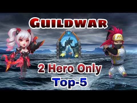Guildwar | 2 Heroes | Top-5 | 7000 + Score | Dove And Ronin | Castle Clash