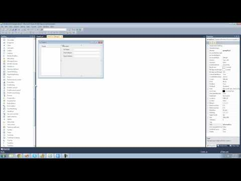C# Beginners Tutorial - 169 - Project 4 Address Book, Making UI