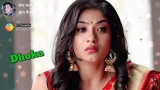Tujhpe Karke Bharosa Humne khaya Dhoka girl voice WhatsApp sad status with lyrics
