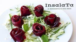 INSALATA DI RAPA E FETA GRECA AGRODOLCE  ( Beet roses) RICETTA FACILE  / RICETTE DI GABRI