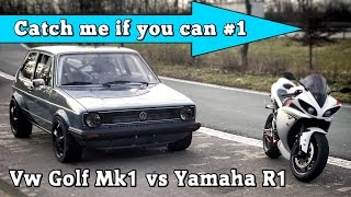 vw golf mk1 1056hp vs yamaha r1 182hp street race full version cmiyc 1
