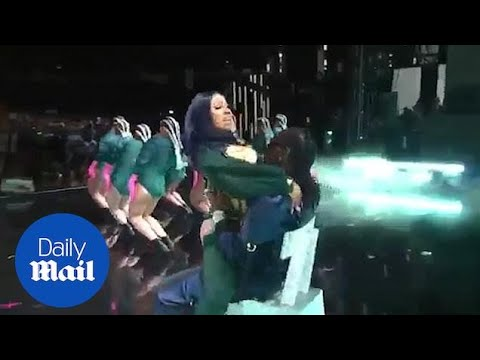 Cardi B gives Offset a lap dance during BET Awards performance