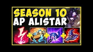 WHY IS ONE AP ALISTAR COMBO ABLE TO DO THIS MUCH DAMAGE SEASON 10 ALISTAR TOP!   League of Legends