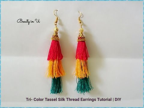 Designer Hoop Style Silk Thread Earrings Tutorial