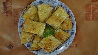 Рецепт Пирог из лаваша с сыром. Закуски в духовке очень быстро и вкусно