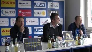 SV Eintracht Trier - 1. FC Saarbrücken |Pressekonferenz nach dem Spiel 30.Spieltag 16/17