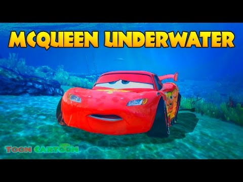Thumbnail: LIGHTNING MCQUEEN UNDERWATER Rescue w/ Spiderman, Hulk and Wolverine Cartoon for Kids