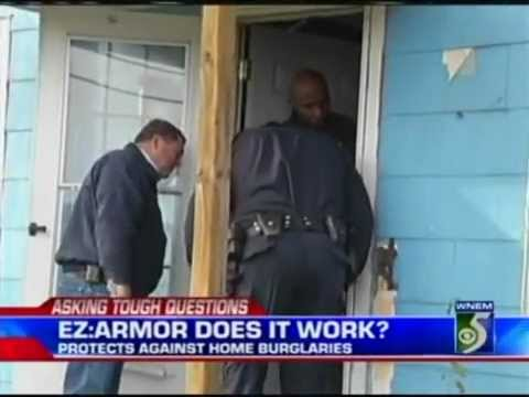 & Police Recommend EZ Armor in Independent Door Security Test - YouTube