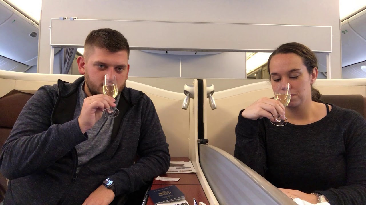 Japan Airlines First Class Champagne!!!