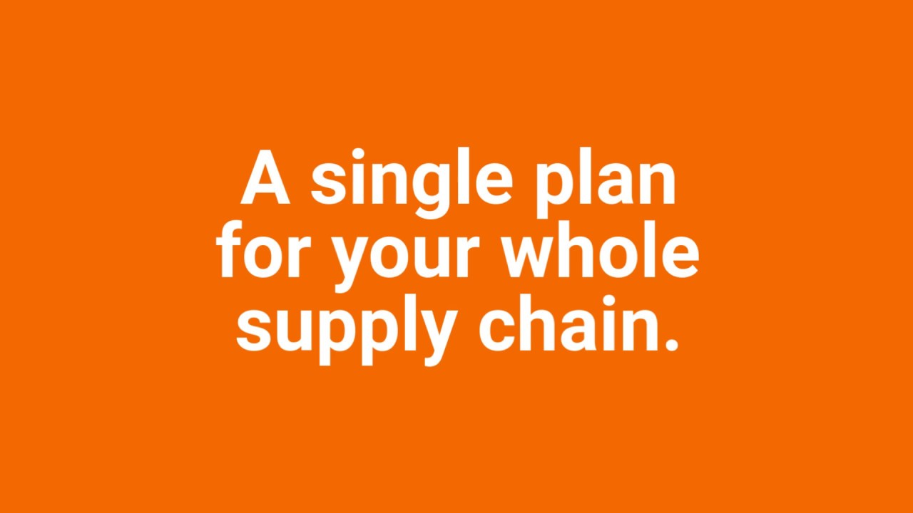 Plan your whole supply chain from procurement to delivery for better  forecast & inventory management