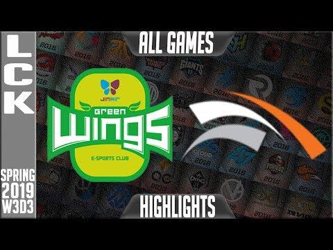 JAG vs HLE Highlights ALL GAMES   LCK Spring 2019 W3D3  Jin Air Greenwings vs Hanwha Life Esports