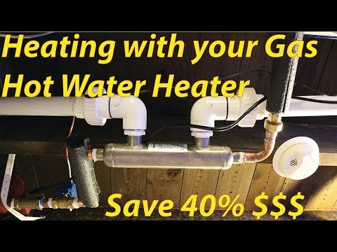Heating large fish tanks with your gas hot water heater. Save 40% on energy cost!
