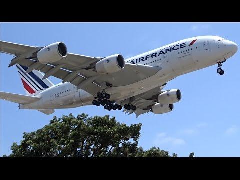Air France Airbus A380-800 [F-HPJJ] landing at Los Angeles (LAX/KLAX)