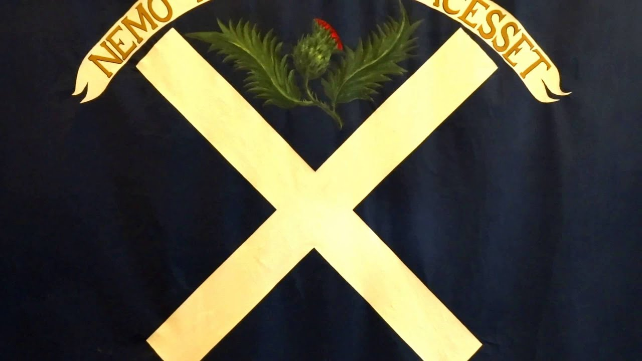 jacobite flag from the battle of culloden 1746 scotland youtube