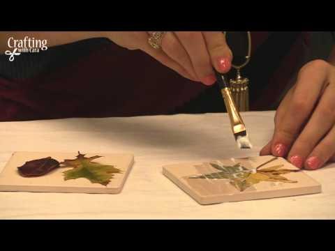 Crafting with Cara - Fall Leaf Coasters