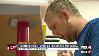 Woman recorded having sex on home security camera