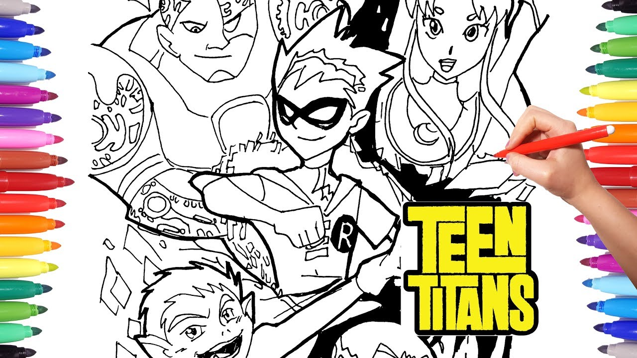 coloring pages teen titans  drawing and coloring teen