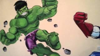 MARVEL SUPER HERO SQUAD MURAL by drews wonder walls