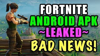 FORTNITE for Android Leaked APK Code - Samsung LOCKED?!