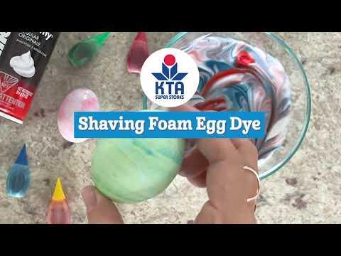 Egg Dye with Shaving Foam