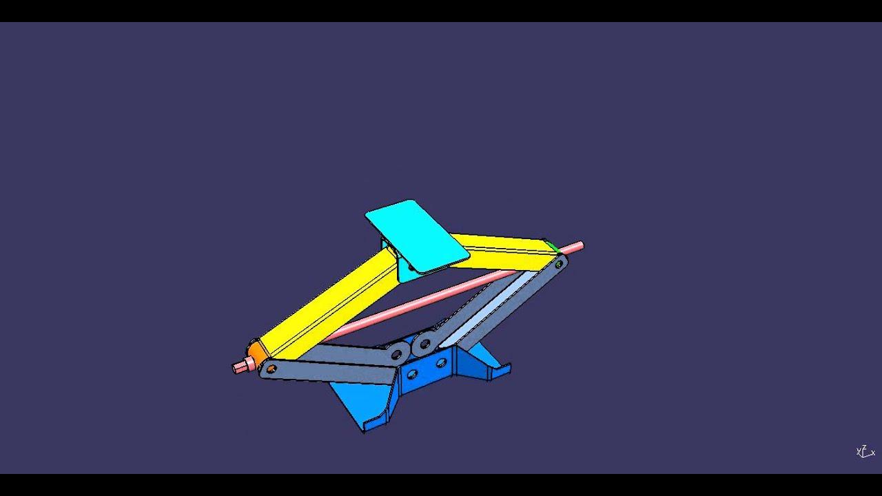 Design of car jack - Catia V5 Scissor Jack