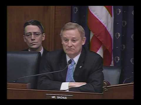 Ranking Member Bachus Questions Ben Bernanke On Unsustainable Budget Deficit