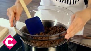 How to melt chocolate using a double-boiler