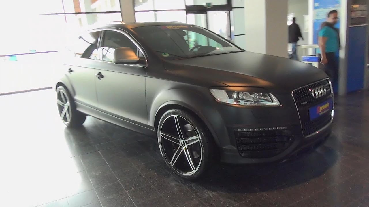 Audi Q7 Matt Black Oxigin Wheels Spotted Tuning World