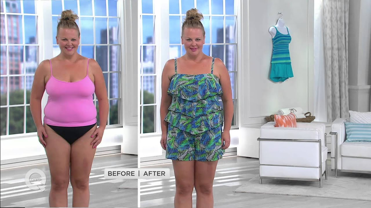 maxresdefault fit 4 u hips v tiered romper swimsuit with leah williams youtube,Fit 4 U Swimwear Qvc