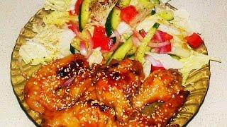 Крылышки по-китайски .chicken Chinese way. Домашние рецепты.