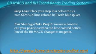 BB MACD and RH Trend Bands Trading System