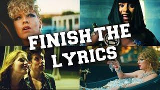 Try to Finish the Lyrics Challenge 2017 !!!