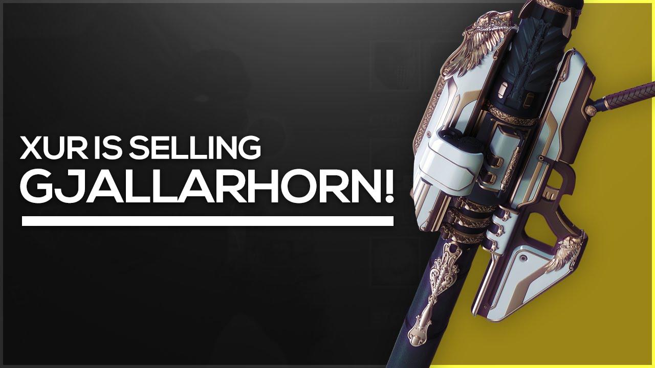 Destiny do not buy gjallarhorn from xur parody youtube