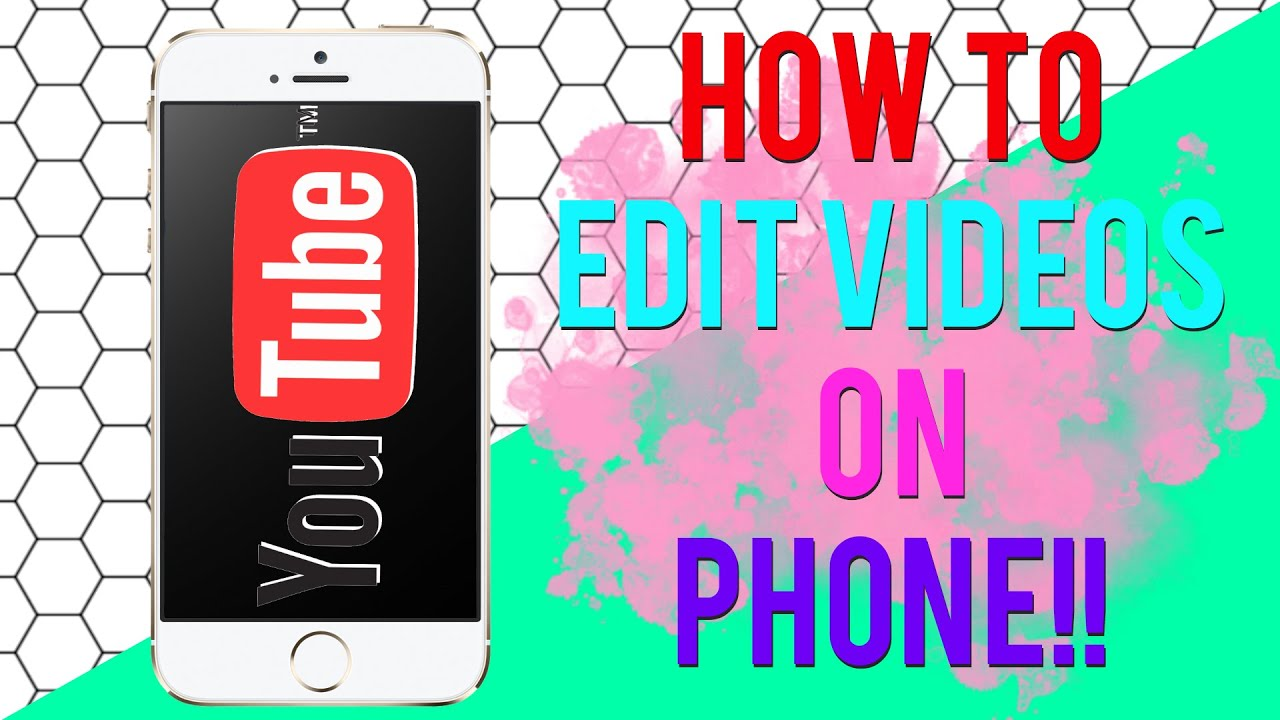 How I Edit My Videos On My Phone   HOW TO MAKE AN INTRO ON ...