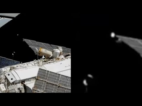 Glowing UFO Light Captured During Russian Cosmonauts Spacewalk on NASA's ISS Live Stream