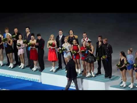 Олимпийские Игры в Сочи.ЗОЛОТО в Фигурном Катании.Цветочная церемония награждения