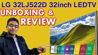 LG 32LJ522D 80cm(32 inch)Full HD LED TV Unboxing & Review