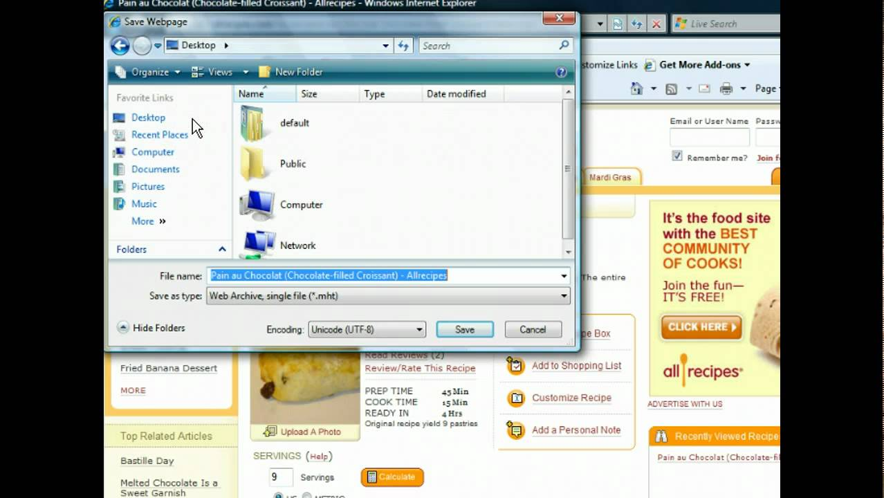 Internet Explorer 8 Save And Copy Web Pages Internet Browsers Youtube
