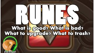 SUMMONERS WAR : RUNES - Upgrade or Trash? (for beginner/intermediate players)
