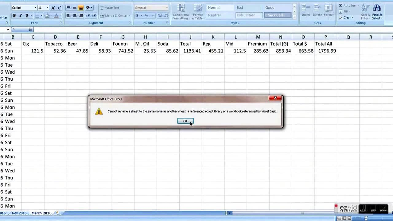 gas sattion business 101 bookkeeping on excel part-1